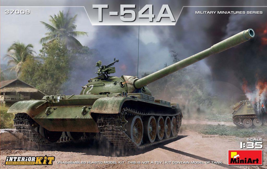 T-54A с интерьером. Сборная модель танка в масштабе 1/35. MINIART 37009