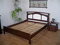"""Кровать с мягким изголовьем """"де Ла Фер"""" (190\200*160). Массив - береза. Палитра 10 цветов на выбор."""