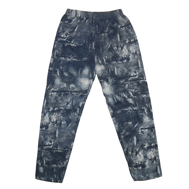 Лосины для девочек 110-128 (5-8 лет) ,джинсовый фон