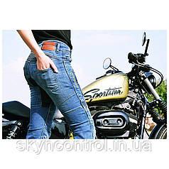 Мотоциклетні жіночі джинси, джинсові брюки Trilobite Parado Dupont Kevlar