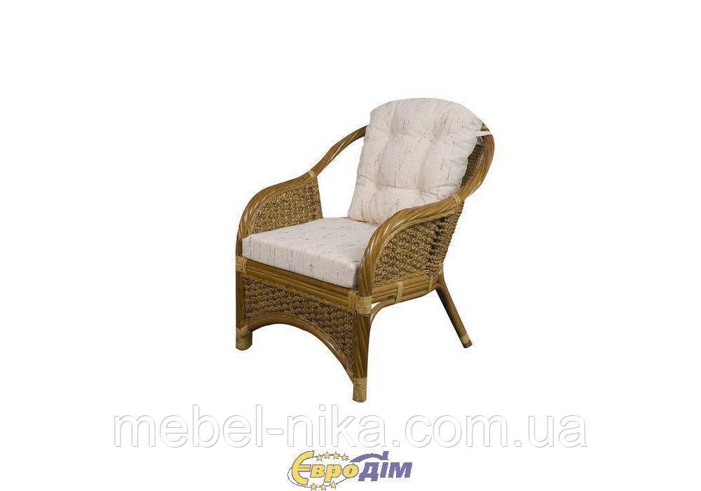 Кресло с мягкой подушкой TWIST ротанг 02 Т