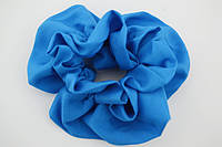Резинка для волос, атлас, голубая, диаметр 11 см, (1шт)