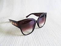 Стильные женские солнцезащитные очки копия Гуччи, фото 1