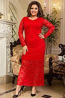 Вечернее гипюровое платье макси Батал до 54р 16086, фото 1