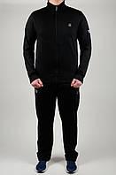 Мужской спортивный костюм Reebok Батал 4753 Чёрный