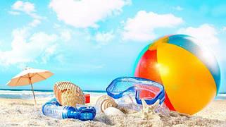 Пляжные коврики, зонты, круги
