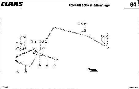 ГИДР. СИСТЕМА ТОРМОЗОВ - CLAAS QUADRANT 1100 (2)