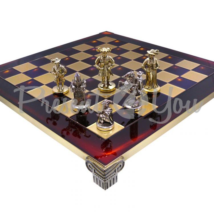 Шахматы «Мушкетеры», красные, Manopoulos,48х48 см (088-1207SK)