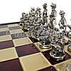 Шахматы «Мушкетеры», красные, Manopoulos,48х48 см (088-1207SK), фото 3