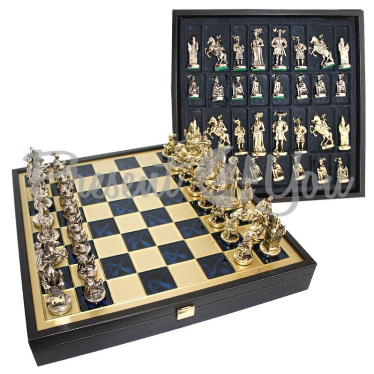 Шахматы «Мушкетеры», синие, Manopoulos, 40х40 см (088-1205SK)