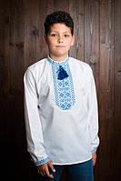 Легкая детская вышиванка для мальчика из батиста Код  х289