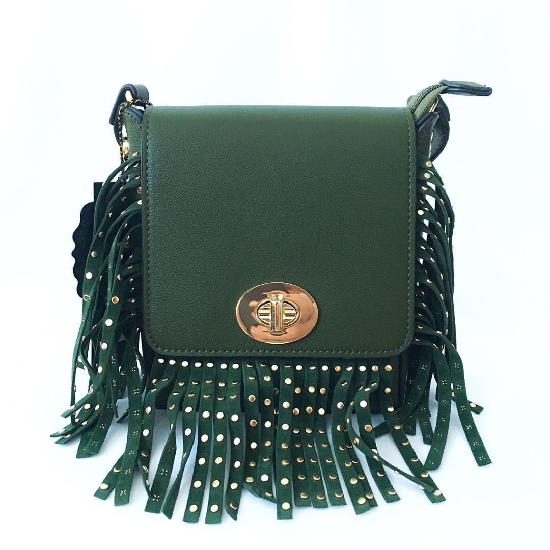 91566142a1ee Зеленая сумка с бахромой, сумка крос-боди - ТОРГОВАЯ МАРКА ELKA в Киеве