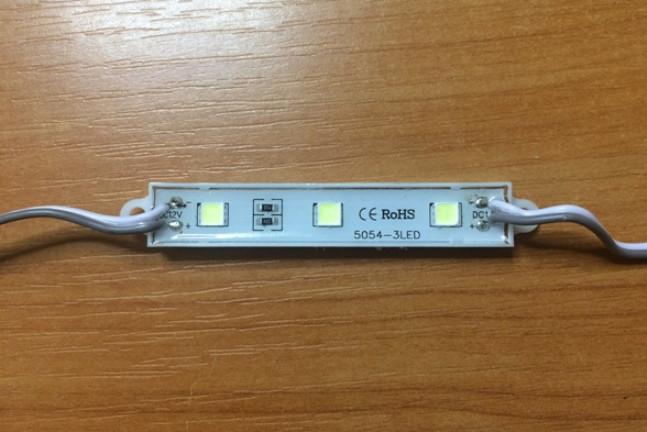 Светодиодный модуль SMD 5054 3 светодиода 120* белый IP65 Код.58690