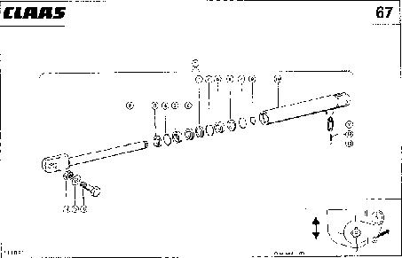 ГИДРОЦИЛИНДР - CLAAS QUADRANT 1100 (2)