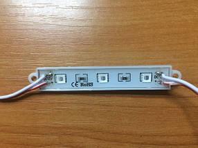 Светодиодный модуль SMD 5054 3 светодиода 120* красный IP65 Код.58688