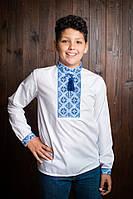 Интересная детская вышиванка на мальчика с воротником -стойкой. Код  х286