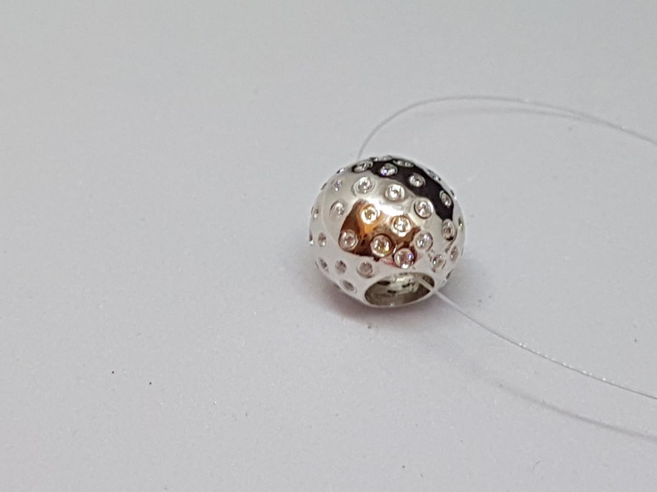 Срібна підвіска-шарм з фіанітами. Артикул 903-00866