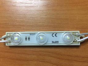 Светодиодный модуль M2835L/3CW линзованный холодный белый IP67 Код.58340