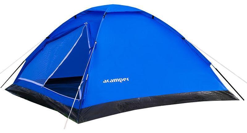 Палатка 4-х местная Acamper DOMEPACK4 с двухсторонним замком