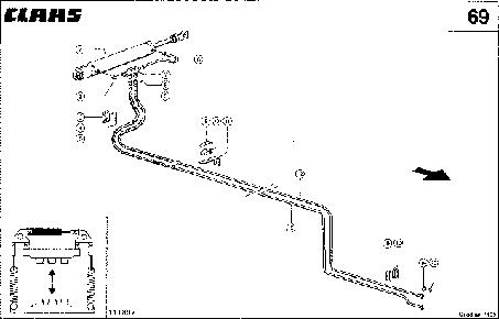 ГИДРОПРОВОДЫ - CLAAS QUADRANT 1100 (4)