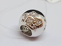Серебряная подвеска-шарм с фианитами. Артикул 903-00764