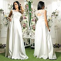 """Атласное свадебное, вечернее длинное платье, платье на выпускной """"Гармония"""", фото 1"""
