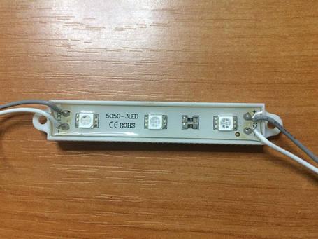 Светодиодный модуль SMD 5050 3 светодиода 120* зеленый IP67 Код.57114, фото 2