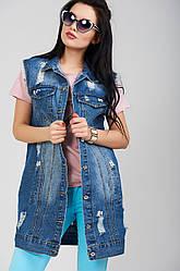 Женский жилет джинсовый модный