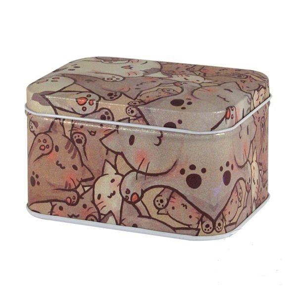 Железная коробка для сыпучих Ностальжи Кошачье счастье, 100г ( кухонный контейнер )