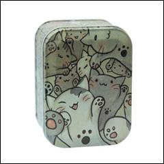 Железная коробка для сыпучих Ностальжи Кошачье счастье, 100г ( кухонный контейнер ), фото 2