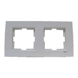 Рамка подвійна VIKO KARRE вертикальна біла (90960221)