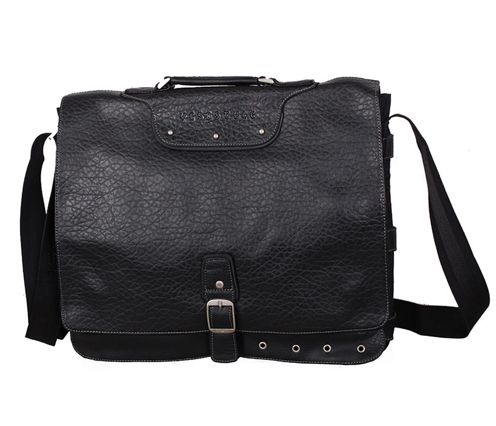 Мужской портфель из искусственной кожи 275-1 черный