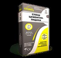 Цементно-песчаная смесь с фиброволокном А39 Сонант (25кг)