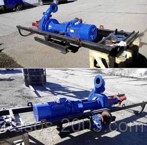 Насос НЖН-200 для навоза, для жома, агрегат НЖН-200 на подрамнике