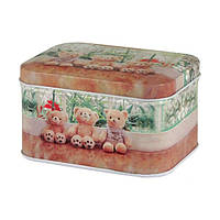 Жестяная коробка для сыпучих Ностальжи Медвежонок Тедди, 10х6х7см ( кухонный контейнер )