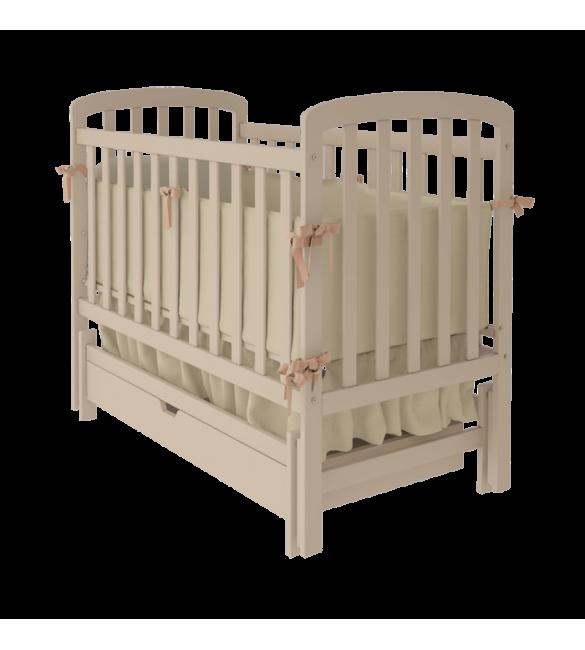 Деревянная кроватка детская Teddy цвет слоновой кости