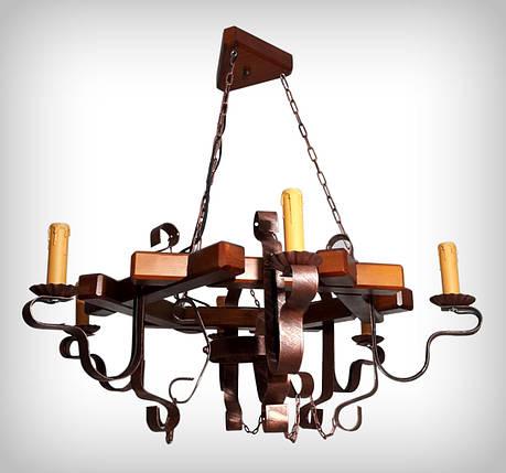Люстра подвесная 0405 Восьмигранник свеча, фото 2