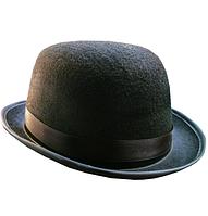 Шляпа котелок черная