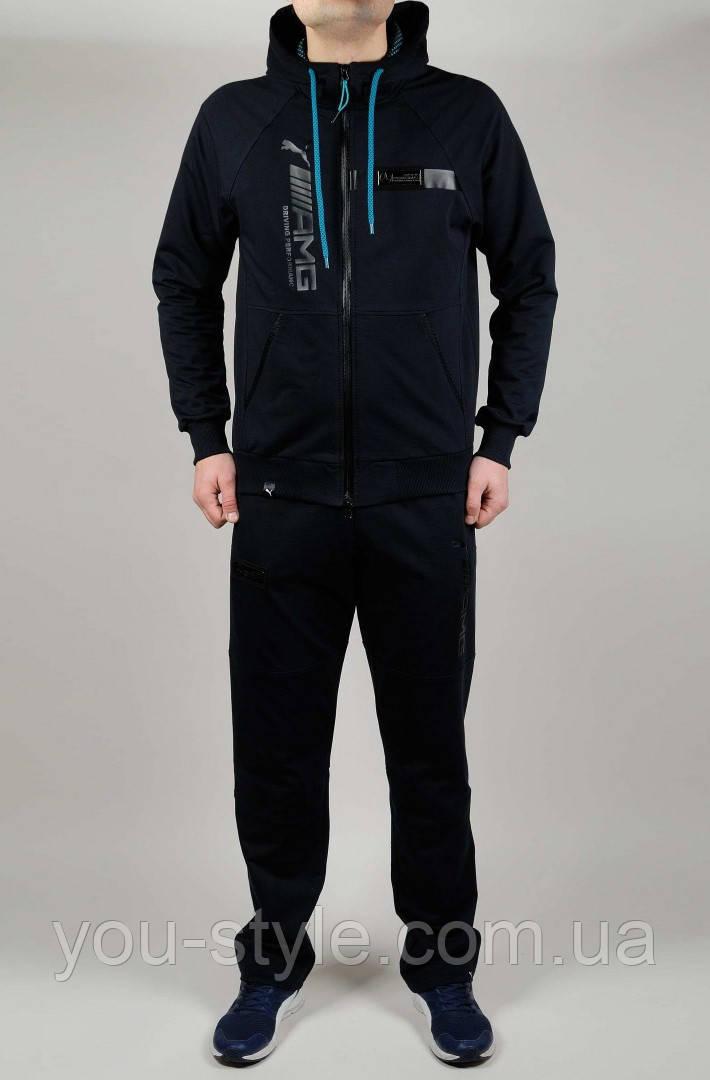 9b4b7811 Мужской спортивный костюм Puma Mercedes 4786 Тёмно-серый - Интернет магазин