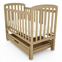 Кроватка детская деревянная TEDDY натурального цвета, фото 1