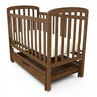 Кроватка детская TEDDY из экологического массива бука, цвет - шоколад , фото 1