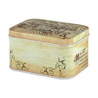Железная коробочка для сыпучих Ностальжи Отдых в Колумбии, 100г ( кухонный контейнер )