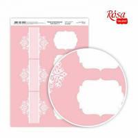Бумага дизайнерская А4 Rosa Love story 4 21х29.7см 250г/м2 4823064970524