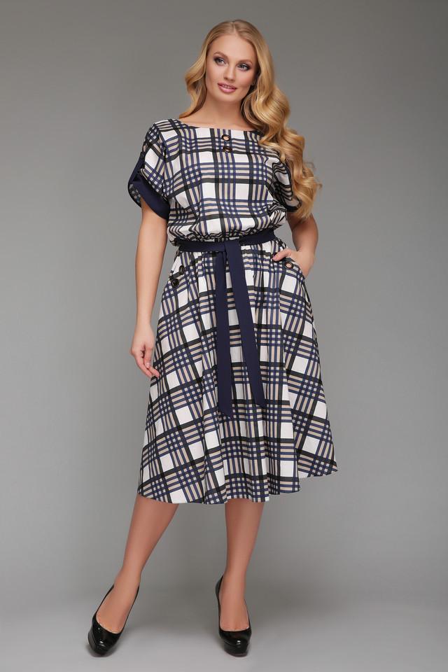 13689d6b585 Платье в клетку с 52 по 58 размер 2цвета - Интернет-магазин