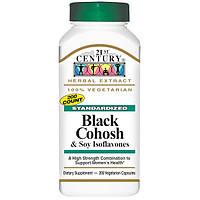 Black Cohosh Цимицифуга Клопогон 200 капс для гормонального баланса женщин 21-й век USA