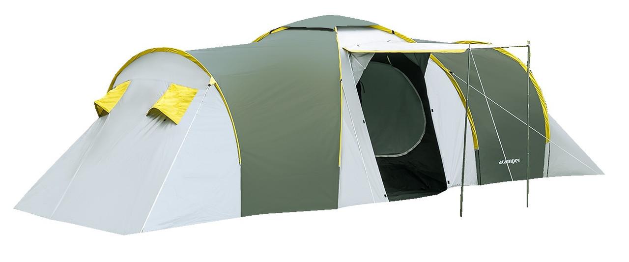 Палатка 6-ти местная Acamper NADIR 6 3000 мм с навесом