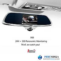 Видеорегистратор зеркало K15/ Поворот на 360°/ Сенсорный экран + Камера заднего вида