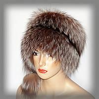 Меховая шапка из золотой чернобурки (барбара), фото 1