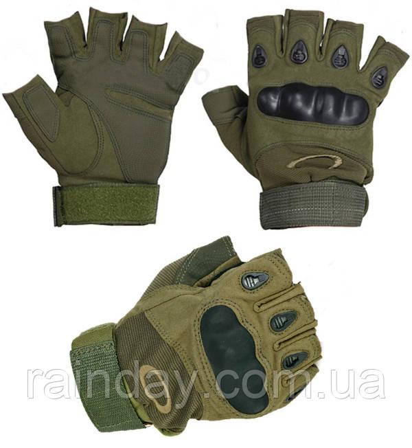 Тактические перчатки Oakley без пальцев оптом