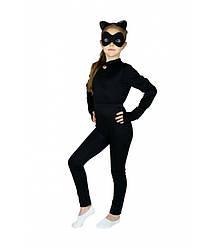 Карнавальный костюм СУПЕР КОШКА для девочки 4,5,6,7,8 лет, Женщина кошка, Пантера, Багира. Герои в масках